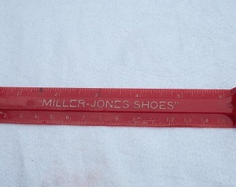 Vintage Plastic Miller-Jones Shoes Advertising Ruler Pencil Sharpener
