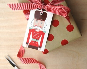 Nutcracker Gift Tags- Gift Tags with Twine Ties