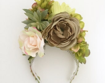 Silk Flower Headband