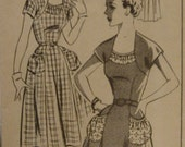 Vintage 1940''s Mail Order Chicago Tribune Pattern 2657 Misses Day Casual Dress Unprinted UNUSED New Old Stock