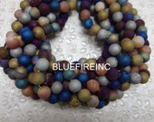 "Multi Colors Druzy beads Round Quartz,Agate druzy ball with coating matte jewelry making supplies 8mm 16""full strand"