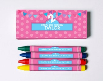 Birthday Street Crayon Favors (Great Favors that won't end up in the trash)