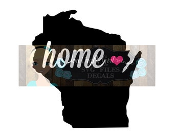 Wisconsin State Map Svg Dxf Png Pdf Zip File Love Home Map Commercial Use SVG Digital File car decal   tshirt Wisconsin state svg cut file