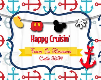 Folded Bag Topper Disney Cruise -Digital File
