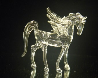 Small glass pegasus