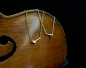Petit Peg Necklace - Violin, Viola and Cello Modern Music Jewelry