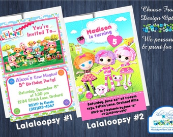 20pcs Custom Personalized Lalaloopsy Birthday Party Invitations w/Envelopes - 4x6 Cards - We Print