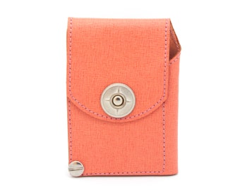Pink leather wallet, Saffiano leather wallet - the JACK compact wallet