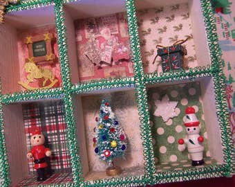 little christmas shadow box