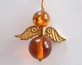 Baltic Amber Angel Pendant,   14 k gold filled by Barb's Design