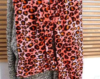 Pink  Leopard Velvet scarf