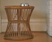 Ratan end table, Frank Loyd Wright furniture end table wicker table