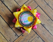 Kissed by the Sun....Small loop hair bow