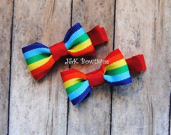 Small bow tie RAINBOW bow