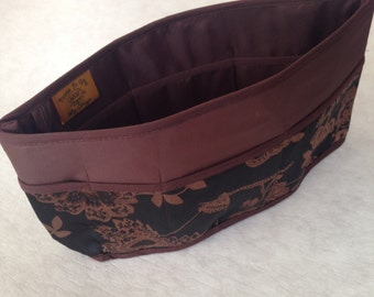 Purse To Go(R)Pockets Plus-Purse organizer insert transfer liner Elegance Print- large size Enclosed bottom