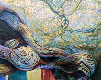 "Fine art print Giclee on canvas, Title: ""Nest,2016"" 36""x48"""