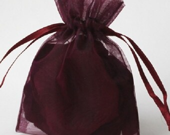 Wedding Favors Table Decorations PLUM Purple  3x4 Organza Bags 100