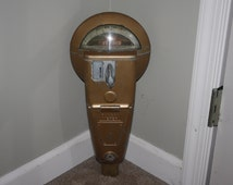 Vintage Duncan Mechanical Parking Meter, 25 cent 1 Hour Limit, Coin Operated Working Meters