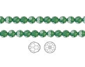 Swarovski Crystal Beads Palace Green Opal 5000 Faceted Round 6mm Package of 12