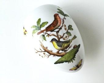 Hungarian Porcelain Egg Box Herend Egg Bonbon Trinket Box Easter Egg