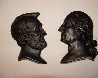 Abraham and George Presidents of the USA