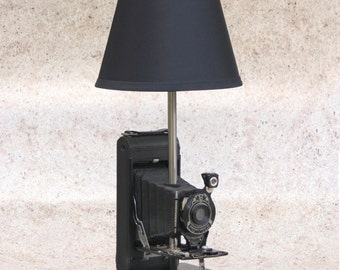 Vintage Kodak 1A Pocket Camera Table Lamp