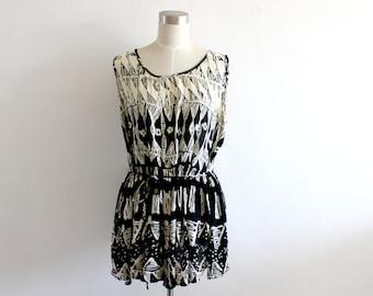 Vintage Ethnic Mini Babydoll Dress S/M