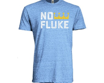 Kansas City Royals Eric Hosmer Inspired No Fluke Tee - Heather Blue