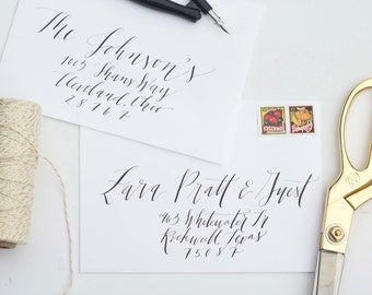 Calligraphy Envelope Addressing -  Hand Written - Wedding - Save the Date - Shower - Kendall Scripted Font ON SALE