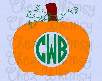 Pumpkin SVG Set, Fall SVG Set, Polka Dot Pumpkin, Stripe Pumpkin, Monogram Pumpkin Fall Designs, Happy Fall Y'all, Acorn svg