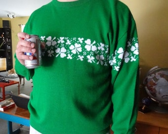 St. Patrick's Day Shamrock Sweater Men's XL