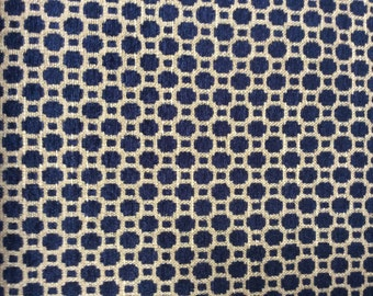 CHENILLE in Navy beige woven multipurpose fabric