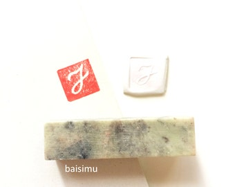 Customized english alphabet stone seal