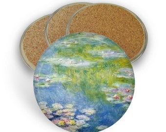 Water Lilies Coaster Set - Drink Coasters