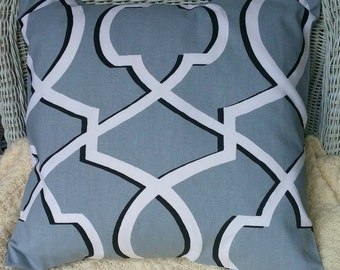 SALE Grey Morrow Pillow cover All Sizes, Fabric Both Sides,Your Choice Size