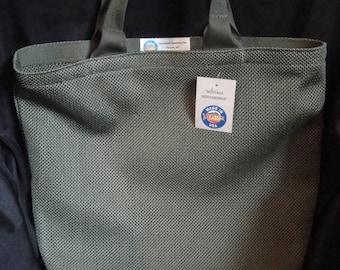 Tote Bag /Green Nylon Mesh / Medium