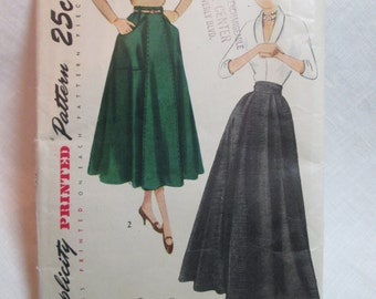 "Antique 1949 Simplicity Pattern #3015 - size 24"" Waist"