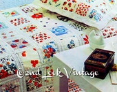 Vintage Crochet Sewing Pattern Patchwork Bedspread Pillow 1970's Digital Download PDF