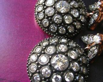 FREE SHIPPING   Helene  EARRING antique diamond inspired zirconia gold