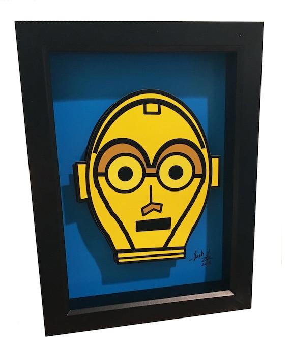 C-3PO Art Star Wars Art 3D Pop Artwork C3PO