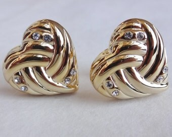 Sparkly Heart Cuff Links