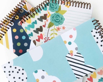 notepads * note pad * cute notepads * grocery list notepad * teacher gift * spiral notebook * doodle books * stocking stuffer