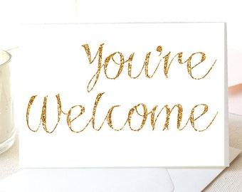 """You're Welcome Notecards, 5.5 x 4"""", Set of 10"""