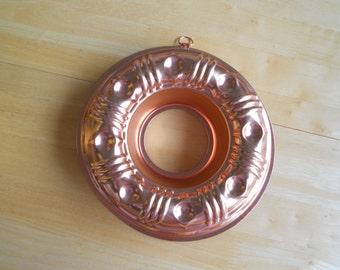 Vintage Copper Colored Aluminum Jello Mold - 3 1/2 Cups