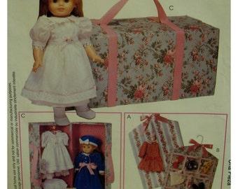 "Doll Accessories Pattern, Carry Case, Garment Bag, Accessory Bag, McCalls No. 625 UNCUT Fits 18""(46cm) Dolls"