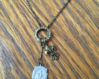 Vintage Religious Relic Necklace