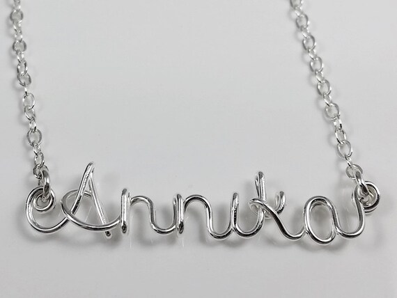 Custom, Personalized, Sterling Silver Name or Word Necklace Handmade