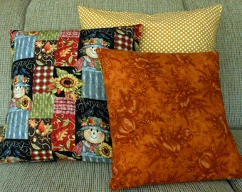 Pillow Covers Scarecrow Set of Three