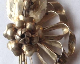 Sale Vintage Hobe Sterling Brooch Floral