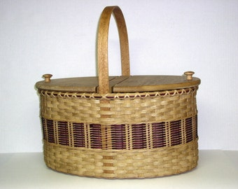 Digital Download, Instructions to Weave the Picnic Basket, Variation 3, Pattern